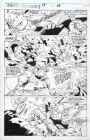 BARNEY, JOE - Marvel Superheroes #15 pg 38, Thor battles Executioner! Walt Simonson's Volstagg story! Comic Art