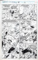 BARNEY, JOE - Marvel Superheroes #15 pg 40, Thor and Volstagg battle Frost Giants! Walt Simonson's Volstagg story! Comic Art
