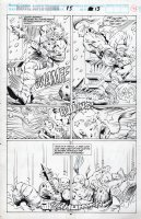 BARNEY, JOE - Marvel Superheroes #15 pg 41, Thor and Volstagg de feet  the Frost Giants! Walt Simonson's Volstagg story! Comic Art