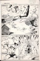 BARNEY, JOE - Marvel Fanfare #7 pg 15, Hulk fights X-Men villain Blob & Unus , 1983 Comic Art