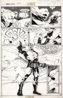 BARNEY, JOE - Marvel Fanfare #7 splashy pg 13, Hulk beats X-Men's Blob & faces Unus, 1983 Comic Art