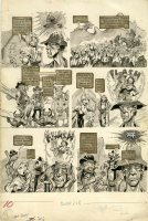 PLOOG, MIKE - Crazy Magazine #1 large pg 10, TV Kung Fu satire, wet flashback 1973 Comic Art