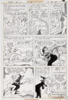 ALBANO, JOHN - Plop #22  The Kicking Man pg 3 of 5 - Wife has witch curse hubby 1976  Comic Art