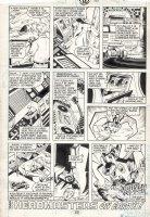 DELBO, JOSE - Transformers #37 last page, Goldbug & Buster find ark, but Ratbat transforms from boom box Comic Art