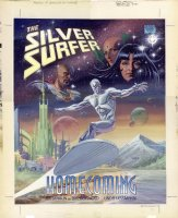 REINHOLD, BILL - Jim Starlin's Marvel Graphic Novel #71 Silver Surfer Homecoming lrg painted cover 1991  Comic Art