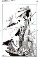 STARLIN, JIM - Silver Surfer Annual inside cover ad for Warlock: Surfer, Warlock, Drax, Gamora + 1991 Comic Art