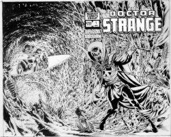 WRIGHTSON, BERNI - Doc Strange Special #1 large wrap-around cover, Doc Clea & Silver Dagger, logo overlay 1981-82 Comic Art