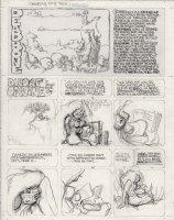 BODE, VAUGHN - Deadbone Erotica #8 title page pencil art.  Comic Art