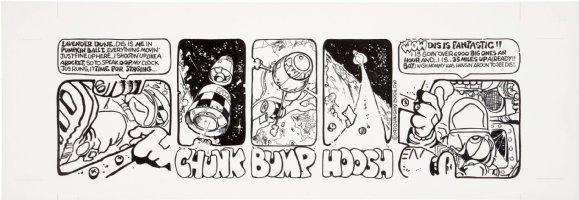 BODE, VAUGHN - Zooks! daily #10, First Lizard in Orbit, 1970 Comic Art