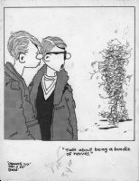 BODE, VAUGHN - Orange Ivy college daily, 12/3 1965, pals talk about friend being a  Comic Art