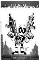 GIARRUSSO, CHRIS - Deadpool #23 variant cover, Heroic Age - Lil' Deadpool in NYC - DEADPOOL films Comic Art