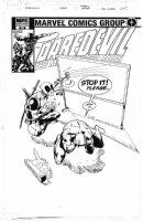 FIUMAZA, MAX - Daredevil #505 variant cover, Deadpool vs Daredevil. based on Frank Miller's DD #185 - DEADPOOL in 2016 film Comic Art