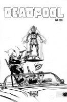 CHAYKIN, HOWARD - Deadpool #26 incentive variant cover 1-in-50, Deadpool & Nick Fury vs Hitler! - DEADPOOL in 2016 film Comic Art
