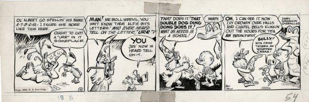 KELLY, WALT - Pogo daily #18, early Pogo, Albert & Howland 1949 Comic Art