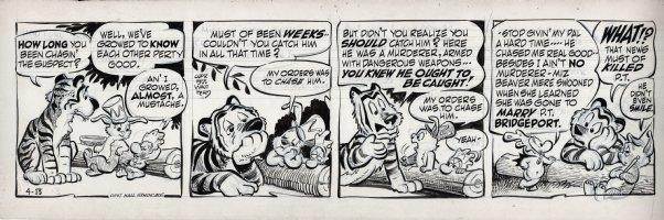 KELLY, WALT - Pogo daily 4-13 1955, Tammany Tiger hears the tale of  Comic Art