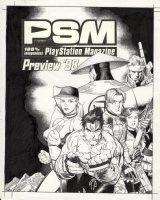 ADAMS, ART - *PSM Playstation Magazine #5 cover, '98 preview: Resident-Evil Tekken Metal-Gear-Solid Mortal-Kombat Comic Art