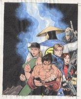 ADAMS, ART - *PSM Playstation Magazine #5 cover color art, '98 preview: Resident-Evil Tekken Metal-Gear-Solid Mortal-Kombat Comic Art