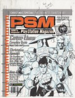 ADAMS, ART - *PSM Playstation Magazine #5 cover prelim art, '98 preview: Resident-Evil Tekken Metal-Gear-Solid Mortal-Kombat Comic Art