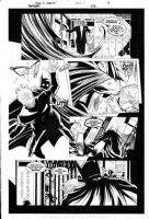 DANIEL, TONY - Batman #672 pg 9, Batman RIP by Grant Morrison. Batman performs beat-down! Comic Art