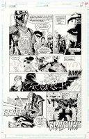 JONES, KELLY - Batman #518 pg 17, masquerading as a Joker-Batman vs Black Mask / Black Spider 1995 Comic Art