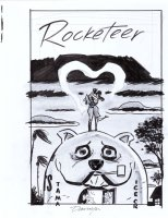 COOKE, DARWYN - Rocketeer Adventures #2 DC Cover Prelim, on Bulldog Cafe 2012 Comic Art