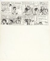 SPIEGELMAN, ART & Bill Griffith - Quentin Fester Has Run-In with Mr. Toad, 1-Page Story, 1970 Comic Art