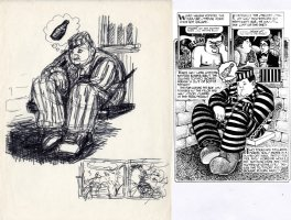 SPIEGELMAN, ART - Sleazy Scandals of the Silver Screen #1 splashy pg 6 prelim Splash & panels - Movie star Fatty Arbuckle 1974 Comic Art