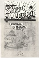 SPIEGELMAN, ART - Short Order Comics #1 pencil cover, Serving Crabs- classic story  Prisoner on the Hell Planet  1973 Comic Art