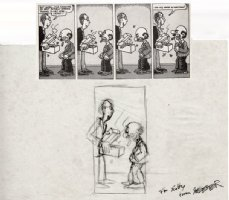 SPIEGELMAN, ART - Short Order Comix #1, pg 2 middle tier panel prelim 1972 Comic Art