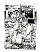 SPIEGELMAN, ART - Sleazy Scandals of the Silver Screen #1 splashy pg 6A prelim, Movie star Fatty Arbuckle 1974 Comic Art