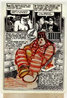 SPIEGELMAN, ART - Sleazy Scandals of the Silver Screen #1 splashy pg 6B prelim, Movie star Fatty Arbuckle 1974 Comic Art