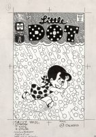 KREMER, WARREN - Little Dot #107 cover, Dot races dot-like hail 1966 Comic Art