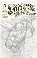 REIS, IVAN - Superman Unchained #8 cover pencils, 1-in-50 variant  2015 Comic Art