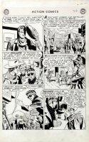 SHERMAN, HOWARD - Action Comics #198 lrg pg 3, hero Vigilante as film star 1954 Comic Art