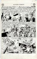 SHERMAN, HOWARD - Action Comics #198 lrg pg 4, hero Vigilante as film star 1954 Comic Art