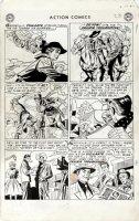 SHERMAN, HOWARD - Action Comics #198 lrg pg 5, hero Vigilante as film star 1954 Comic Art