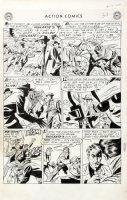 SHERMAN, HOWARD - Action Comics #198 lrg pg 7, hero Vigilante as film star 1954 Comic Art