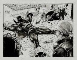 JUSKO, JOE - Black Panther #7 pg 2, double size title splash. The Black Panther  Comic Art