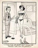 KILGORE, AL - Good-Girl Weekly Magazine Cartoon - 3-Cup bikini model Comic Art