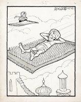 KILGORE, AL - Floor Covering Weekly Magazine Cartoon - flying carpet with spikes Comic Art