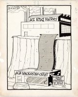 KILGORE, AL - Floor Covering Weekly Magazine Cartoon - rug flows from factory to store Comic Art