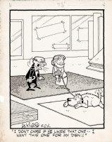 KILGORE, AL - Floor Covering Weekly Magazine Cartoon - dog picks the owner's rug Comic Art