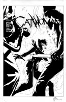 MIDDLETON, JOSHUA - Catwoman #50 cover, Catwoman vs rogues' gallery: Zsasz & Firefly Comic Art