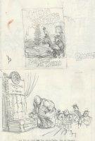OLIPHANT, PATRICK - Political cartoon DBL sketch, Reagan bedtime for Ronno + Teamster Jackie Presser Comic Art