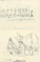OLIPHANT, PATRICK - Political cartoon DBL sketch, Reagan & Bishops + MiddleEast spies for US hotspots   Comic Art