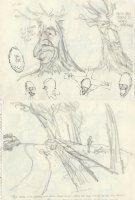 OLIPHANT, PATRICK - Political cartoon DBL sketch, Reagan EPA hit & run list + Breznev & Haig as old trees  1981  Comic Art