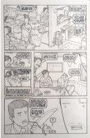 FISHER, SETH - Vertigo / Pop Tokyo #4 pg 11, attack in karaoke bar 2002 Comic Art
