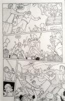 FISHER, SETH - Vertigo / Pop Tokyo #4 pg 18, Rock Concert fight 2002 Comic Art