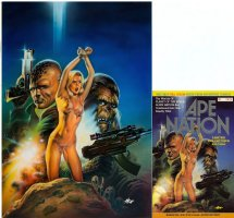 HSU, PETER - Ape Nation #1 ltd painted cover, Planet of Apes 1991 Comic Art