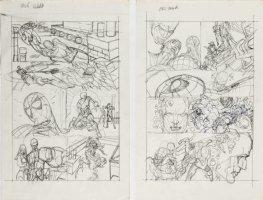 KANE, GIL - Marvel Team-Up #4 full-size prelim story pgs 11-12, X-Men + Spider-Man '72 Comic Art